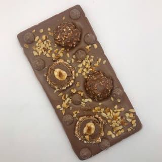 handmade Topped chocolate bars