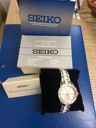 Reloj Seiko Sportura blanco