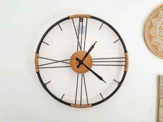 NUEVO - Reloj pared metal y cuerda (60 cm)