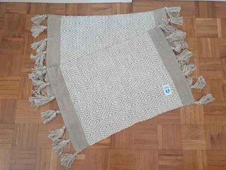 NUEVAS - Set 2 alfombras algodón rombos (80x50 cm)