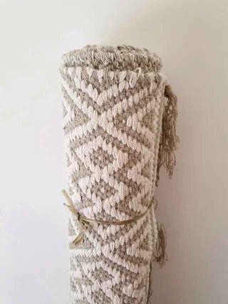 NUEVA - Alfombra algodón estilo boho (230x160 cm)