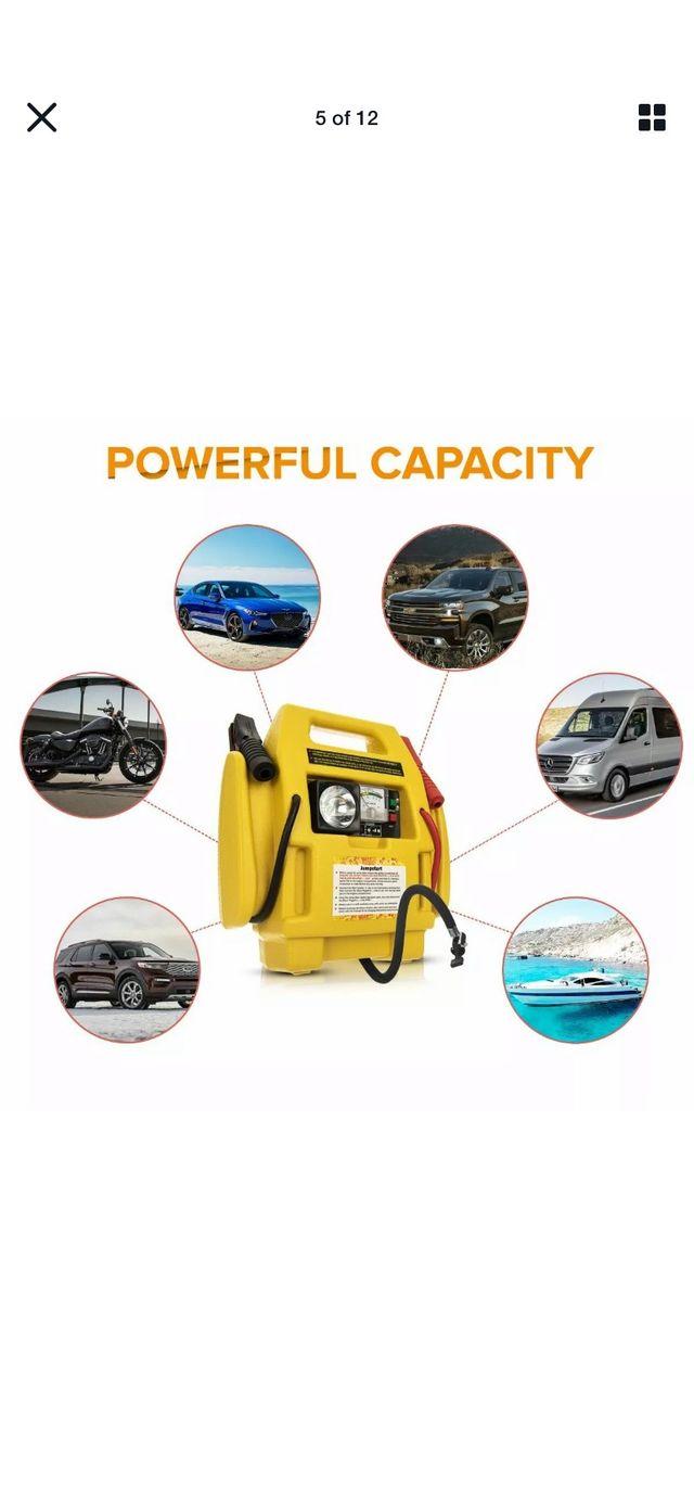 12v Portable Car Jump Starter Air Compressor New