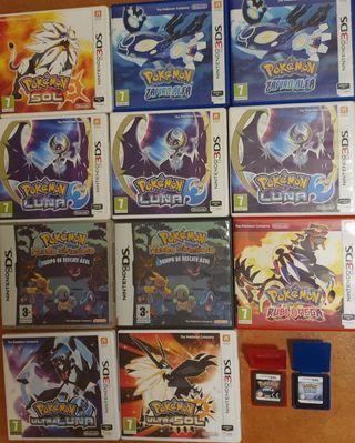 Juegos de Pokémon para Nintendo ds y 3ds