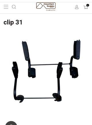 Adaptador doble clip 31 mountain buggy duet