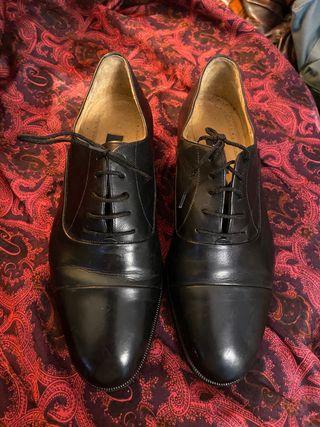 BALLY T 41,5 Zapatos Negros Caballero