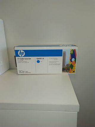 Cartucho de tóner HP Q6001A Cian