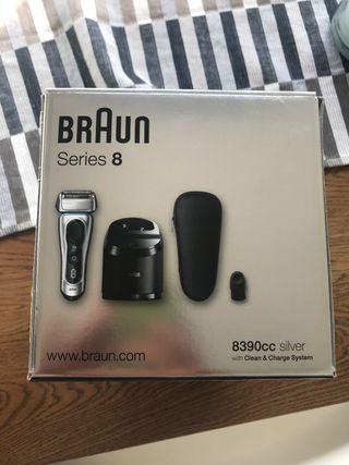 Maquina afeitar Braun serie 8-8390cc Silver