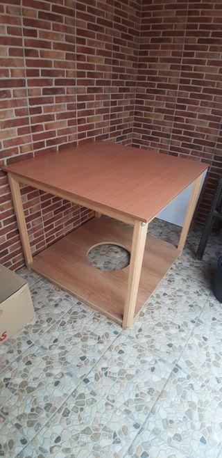 mesa con tarima