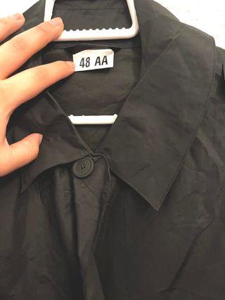 Chubasquero impermeable negro total 48-