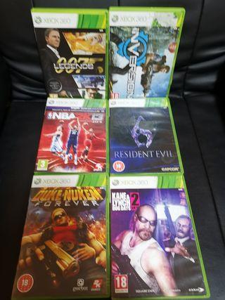 6 juegos de XBOX 360 por 30€