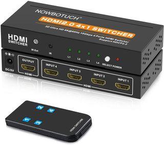 El conmutador 4K HDMI 4 PUERTOS · NUEVO A ESTRENAR