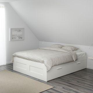 Cama Queen Size 160x200 + almacenaje Brimnes Ikea