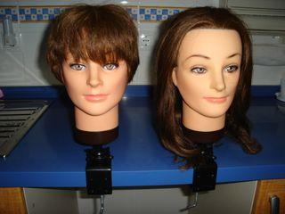 Cabezas maniquí peluquería