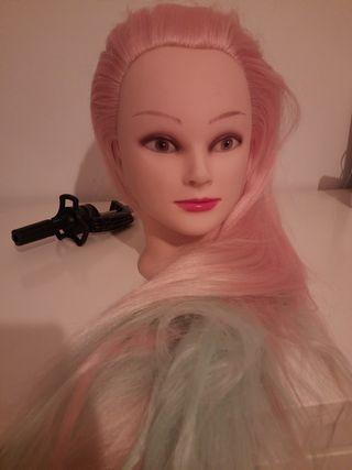Lote 5 Maniquies de peluquería