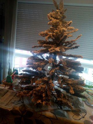 árbol navidad nevado
