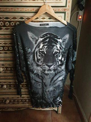 Jersey de punto fino y suave con tigre
