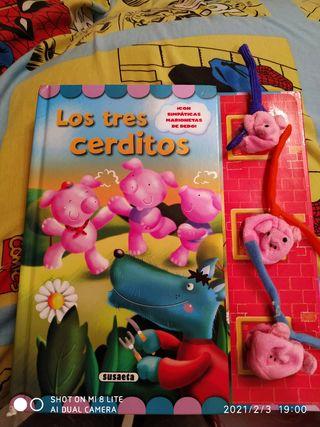 libro marionetas de los tres cerditos