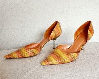 Zapatos tacón piel serpiente mujer