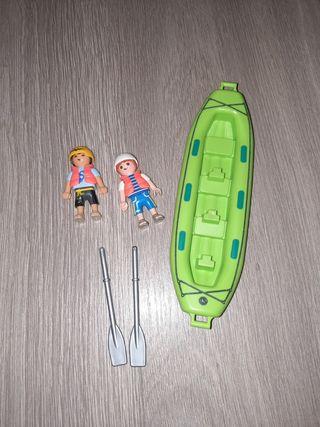 Niños con piragua Playmobil