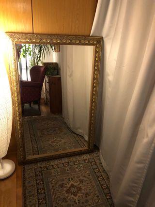 Espejo grande color oro mate