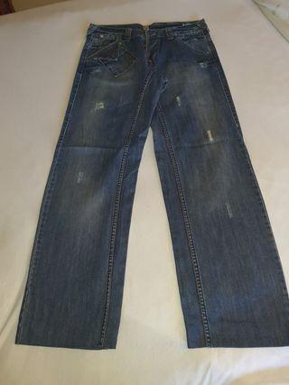 pantalon vaquero ancho