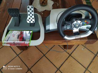 volante y juegos Xbox 360