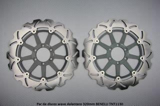 Par de discos wave delantero 320mm BENELLI TNT1130