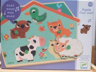 Puzzle animales encajables con sonidos