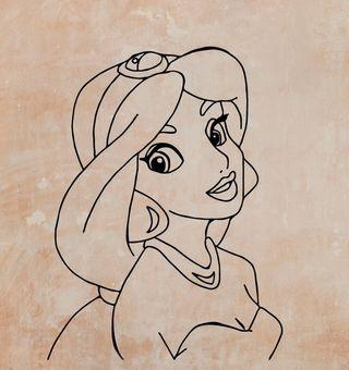 Vinilo Princesa Jasmin