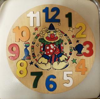 Puzzle reloj de madera