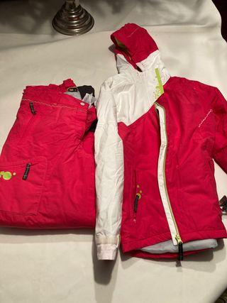 Pantalon y chaqueta de esquí niño