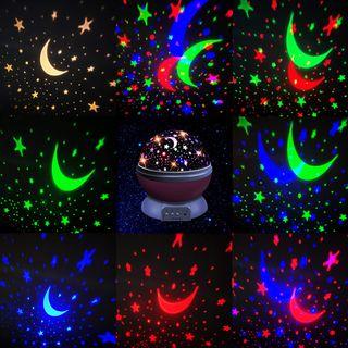 Lampara Proyectora de estrellas y , 360° Rotación