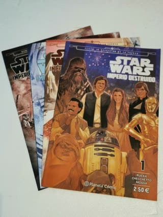 STAR WARS IMPERIO DESTRUIDO PLANETA COMIC