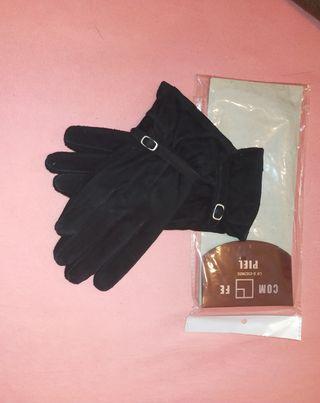 guantes de ante