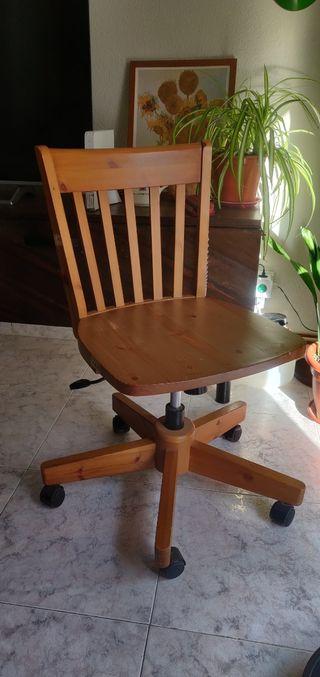 Silla escritorio madera