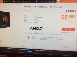 Procesador amd athlon x4 845 cuatro nucleos