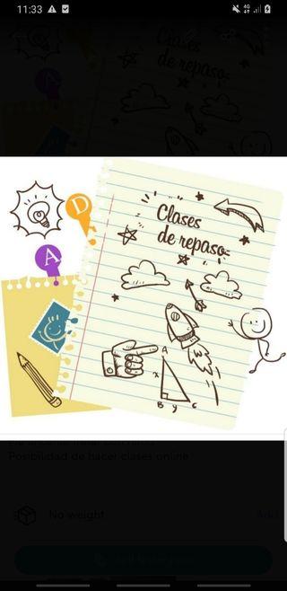 CLASES DE REPASO ONLINE O PRESENCIAL DE RE