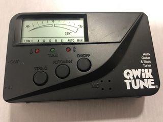 Afinador de guitarra y bajo Qwik tune