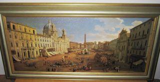 Cuadro Plaza Navona Roma 1699 Gaspar Van Wittel