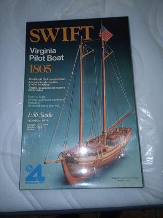 Maqueta de velero. 1982 completa