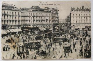 Antigua Postal de Madrid .Puerta del Sol