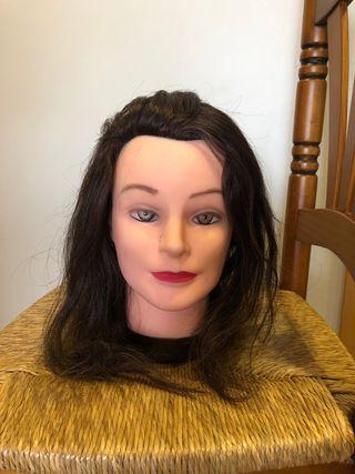 Cabeza maniquí para peluquería