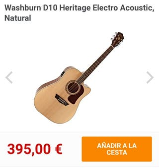 Washburn HD10SCE Guitarra electroacústica