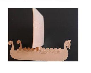 Vector Corte Láser Barco Antiguo Vikingo Vector Co