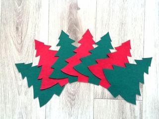 Árboles Navidad de fieltro