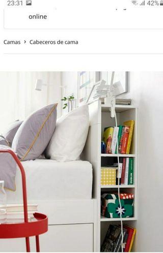 Cabecero con almacenaje blanco Ikea