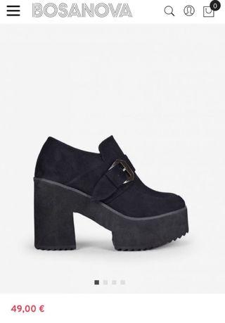 Zapatos nuevos tacón con plataforma mujer