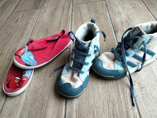 lote 2 zapatillas , talla 27 y 28