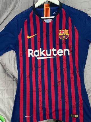 Camiseta Barça firmada