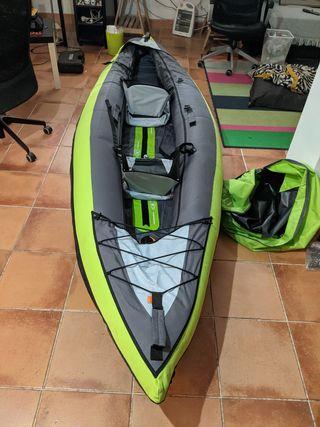 Kayak decatlón 2 personas con palas e inflador